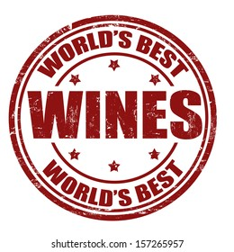 Grunge rubber stamp with the word Wines written inside the stamp