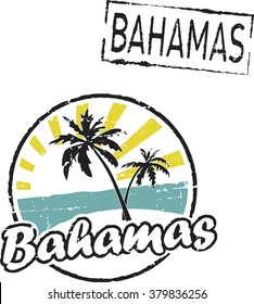 Grunge rubber stamps 'BAHAMAS'