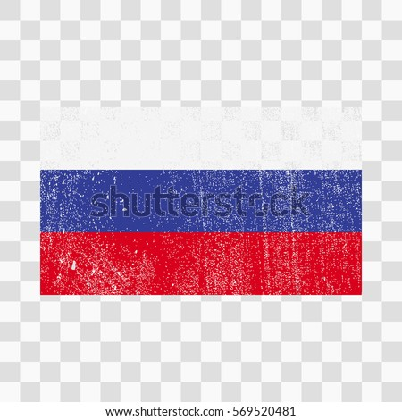 Grunge Russia Flag Russian Flag Distress Stock Vector Royalty Free