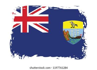 Grunge Saint Helena flag.flag of Saint Helena,banner vector illustration. Vector illustration eps10.