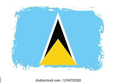 Grunge Saint Lucia flag.flag of Saint Lucia,banner vector illustration. Vector illustration eps10.