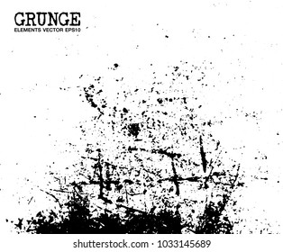 Grunge scratch elements background and texture . Vector .