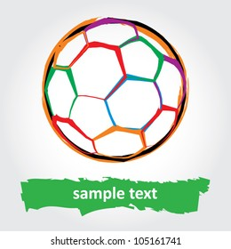 Grunge soccer ball. vector illustration