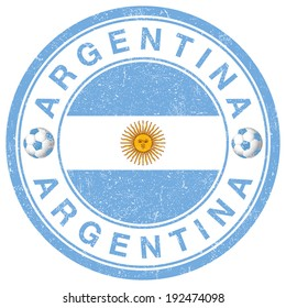 Grunge stamp of Argentina