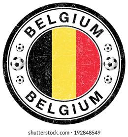 Grunge Stamp of Belgium