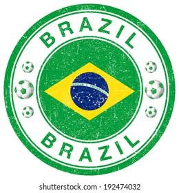 Grunge stamp of Brazil
