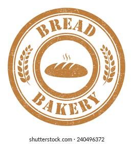 Grunge stamp of Bread