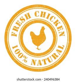 Grunge stamp of Chicken