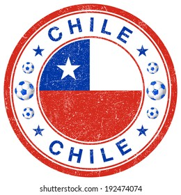 Grunge stamp of Chile