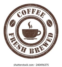 Grunge stamp of Coffee
