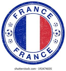 Grunge stamp of France