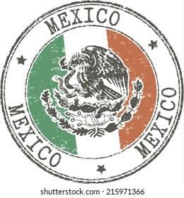 Grunge stamp 'Mexico'