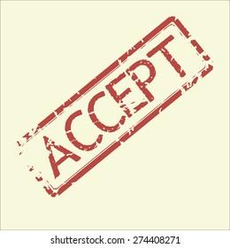 Grunge stamp word accept