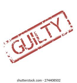 Grunge stamp word guilty