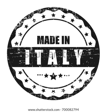 a0858d8c5a Grunge stamp with word Made in Italy . Square grunge rubber stamp on white  background. Vector stock. - Vector