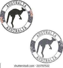 Grunge stamps 'Australia'