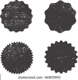 Grunge Stamps Collection, Circles. Banners, Insignias , Logos, Icons, Labels and Badges Set .