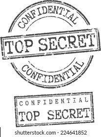 Grunge stamps 'Confidential top secret'