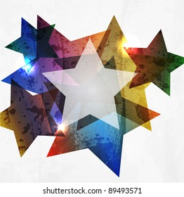 Grunge star. Abstract Vector Background