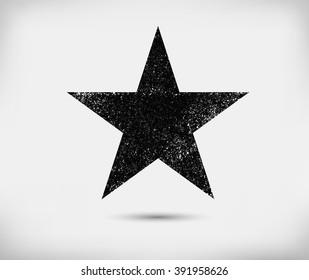 Grunge star background.Vector grunge star.Grunge star symbol.