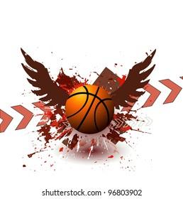Grunge Street Ball Poster