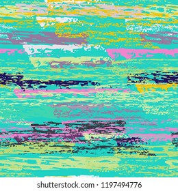 Grunge Stripes chalk vector textures. Seamless pattern old wall. Stripy crayon pencil strokes. Hand drawn pastel. Graffiti bright stripes, brushes. Horizontal pinstripe endless repeating elements.