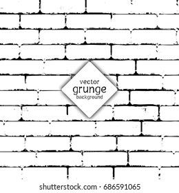 Grunge style brick wall texture