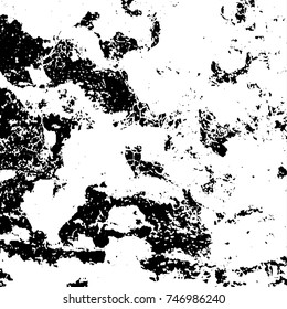 Grunge style old ancient black and white vector texture template. antique grunge background. scratched cracked surface. vector abstract retro illustration. craquelure aged and crack paint texture.