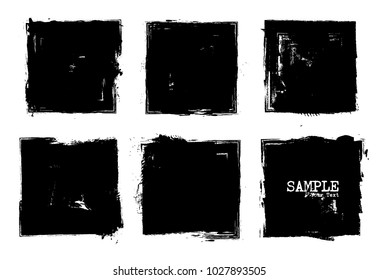Grunge style set of square shapes . Vector . - Shutterstock ID 1027893505