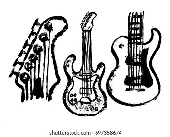 Grunge styled guitar