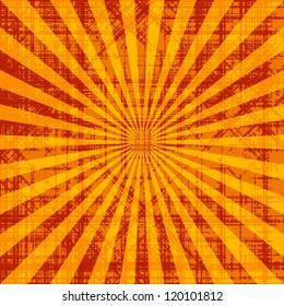Grunge sunburst vector image