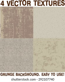Grunge surface backgrounds vector set Color vector illustration.