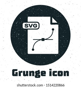 Grunge SVG file document. Download svg button icon isolated on white background. SVG file symbol.  Vector Illustration