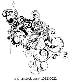 Grunge swirl design