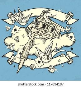 Grunge Tattoo Machine