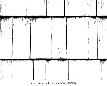 Grunge texture - abstract stock vector template - easy to use. Old Wooden shingles background