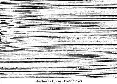 Grunge texture bamboo board. Monochrome background of natural wood wall with horizontal streaks, stripes, noise and grit. Overlay template. Vector illustration