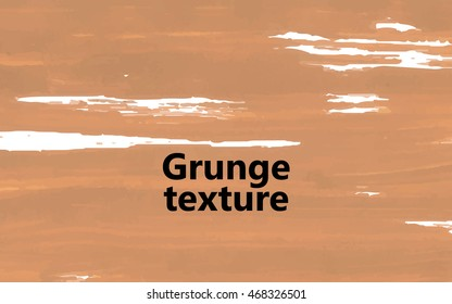 Grunge texture beige. For your design. Vector.