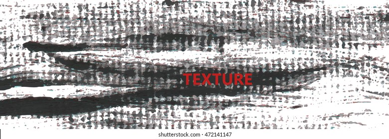 Grunge texture black and text. For your design. Vector.