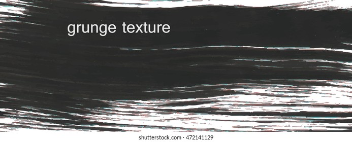 Grunge texture black. For your design. Vector.