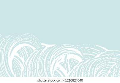 Grunge texture. Distress blue rough trace. Dazzling background. Noise dirty grunge texture. Trending artistic surface. Vector illustration.