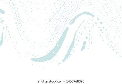 Grunge texture. Distress blue rough trace. Charming background. Noise dirty grunge texture. Alive artistic surface. Vector illustration.