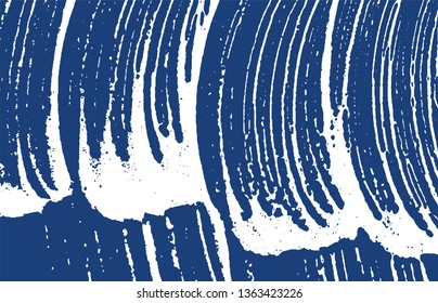 Grunge texture. Distress indigo rough trace. Enchanting background. Noise dirty grunge texture. Favorable artistic surface. Vector illustration.