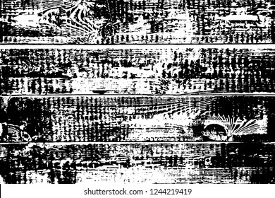 Grunge texture of natural wood boards. The contrasting texture of burned wood planks after the fire. Blank or template for antique signs or other design. Rustic style. Vector illustration