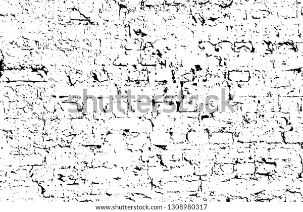 Grunge Texture Old Crumbling Brick Wall Stock Vector (Royalty Free ...