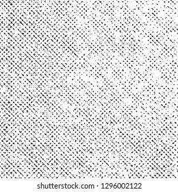 Grunge Texture on White Background, Black Abstract Dotted Vector, Monochrome Halftone Grungy