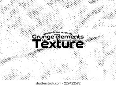 Grunge texture - stock vector template easy to use