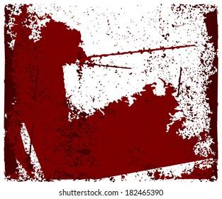 Grunge texture. vector template.