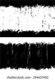 Grunge textures set, Vector background illustration