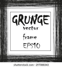 Grunge threads vector frame background.